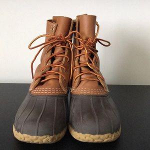 """Women's Classic L.L. Bean """"duck"""" 8"""" Boots— size 7"""